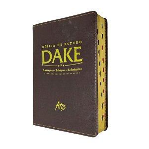 Bíblia de Estudo Dake Marrom Com Índice - Atos