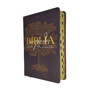Bíblia Sagrada Média Letra Grande NVT - Éden - Marrom