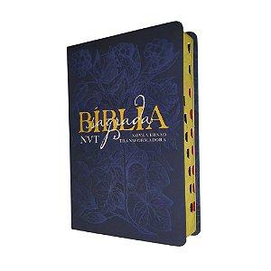 Bíblia Sagrada Média Letra Grande NVT - Éden - Azul