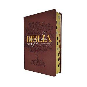 Bíblia Sagrada Média Letra Grande NVT - Éden - Vinho
