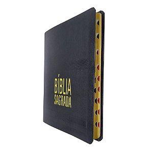 Bíblia Sagrada Slim Preta NAA Letra Grande Índice -  SBB