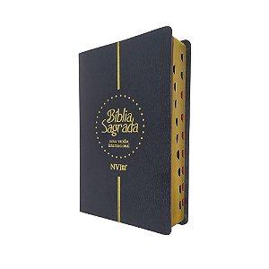 Bíblia NVI Letra Gigante Capa Luxo Preta Geográfica