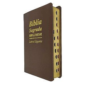 Bíblia Sagrada Letra Gigante Com Harpa Ed Promessas - Marrom
