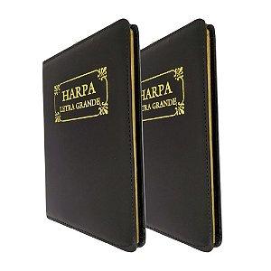 Kit com 2 Harpa Cristã Original com Corinhos - Preta