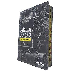 Bíblia em Ação de Estudo Com Índice - Capa Especial Preta