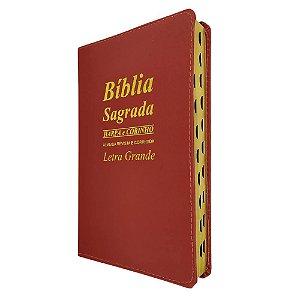 Bíblia Sagrada Letra Grande Vermelha - Promessas