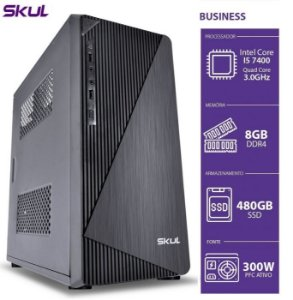COMPUTADOR BUSINESS SKUL B500 I5-7400 3.0GHZ 8GB DDR4 SSD 480GB S/ SISTEMA