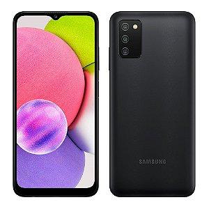 """SMARTPHONE SAMSUNG GALAXY A03S 64GB 4GB RAM CAMERA TRIPLA 6.5"""" SM-A037MZKGZTO PRETO"""