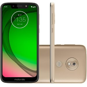 "SMARTPHONE MOTOROLA G7 PLAY 32GB 13MP 5.7"" ANDROID 9.0 DOURADO"