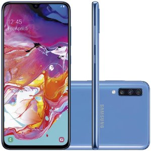 "SMARTPHONE SAMSUNG GALAXY A70 DUAL 32MP 128GB 6.7"" AZUL"