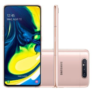 "SMARTPHONE SAMSUNG GALAXY A80 CAM 48MP+8MP 128GB 6.7"" ANDROID 9.0 ROSÊ"