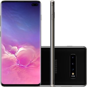 "SMARTPHONE SAMSUNG GALAXY S10+ 16MP 128GB ANDROID 9.0 6.4"" PRETO"