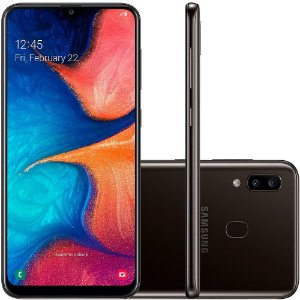 "SMARTPHONE SAMSUNG GALAXY A20 32GB 6.4"" ANDROID 9.0 PRETO"