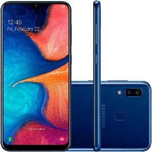 "SMARTPHONE SAMSUNG GALAXY A20 32GB 6.4"" ANDROID 9.0 AZUL"