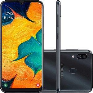 "SMARTPHONE SAMSUNG GALAXY A30 TV 64GB 6.4"" ANDROID 9.0 PRETO"