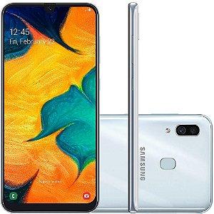 "SMARTPHONE SAMSUNG GALAXY A30 TV 64GB 6.4"" ANDROID 9.0 BRANCO"