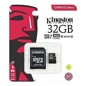 CARTAO DE MEMORIA KINGSTON CLASSE 10 32GB PRETO (SDCS/32GB)