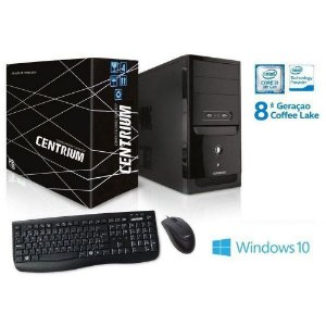 COMPUTADOR WINDOWS CENTRIUM CORE I3-8100 3.6GHZ WINDOWS 10 4GB 500GB PRETO