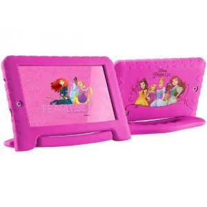 "TABLET MULTILASER PRINCESS PLUS 7"" WIFI 8GB CAM 2MP+1.3MP ROSA"