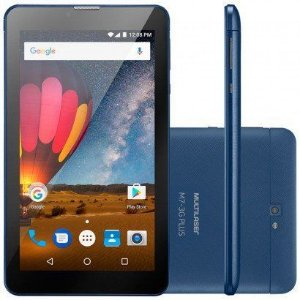 "TABLET MULTILASER NB270 7"" M7 3G PLUS QUAD CORE 8GB DUAL CHIP AZUL"