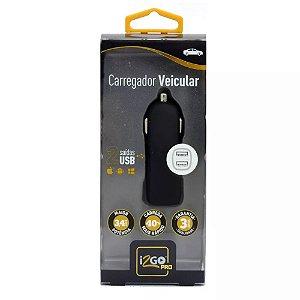 CARREGADOR VEICULAR I2GO PRO 2 ENT USB 3,4 AHP