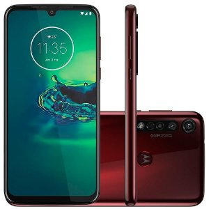 "SMARTPHONE MOTOROLA MOTO G8 PLUS 64GB 48MP+25MP 6.3"" CEREJA"