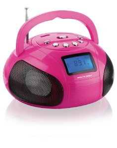 CAIXA DE SOM MULTILASER MINI BOOM BOX 10W RMS USB SD FM ROSA SP146