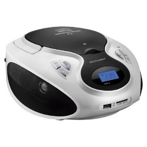CAIXA DE SOM BOOMBOX MULTILASER 20W RMS CD USB SD FM AUX BRANCA