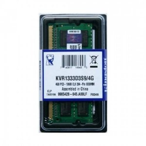 MEMORIA KINGSTON PARA NOTEBOOK KVR1333D3S9/4 4GB DDR3 1333MHz