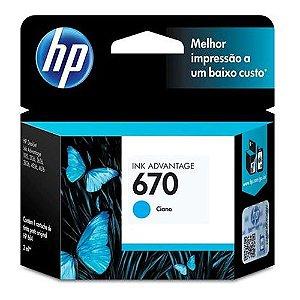 CARTUCHO DE TINTA CZ114AB HP 670 CIANO