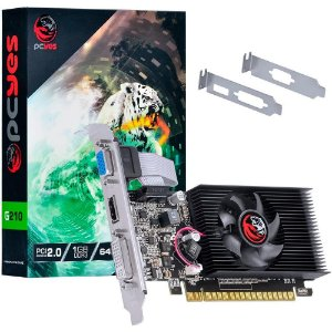 PLACA DE VIDEO PCYES NVIDIA GEFORCE G210 1GB DDR3 PA210G6401D3LP