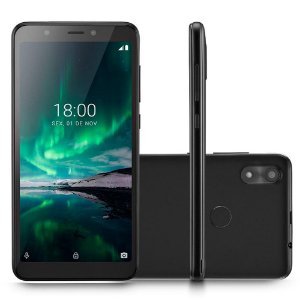 SMARTPHONE MULTILASER F PRO ANDROID 16GB 4G 5MP 5.5POL PRETO + PELICULA & CAPA