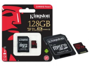CARTAO DE MEMORIA MICRO SD KINGSTON 128GB 4K ULTRA HD SDCR/128GB