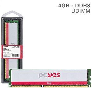 MEMORIA P/ DESKTOP PCYES 4GB DDR3 1333MHz PM041333D3