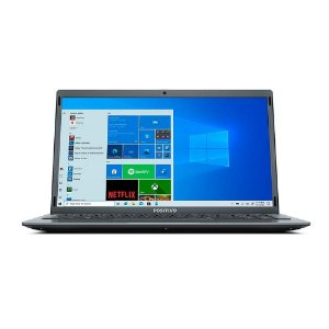 NOTEBOOK POSITIVO Q464C MOTION INTEL ATOM QUAD-CORE 1.9GHZ 4GB RAM EMMC 64GB + 64GB NUVEM 14.1P LED WIN 10 HOME CINZA