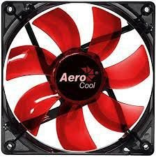COOLER FAN AEROCOOL PARA GABINETE 12CM EN51363 LED VERMELHO