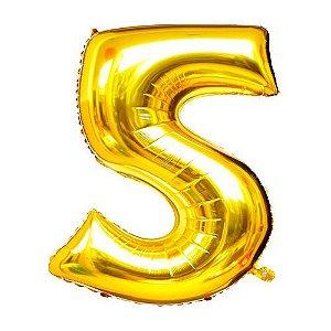 Balão Dourado N5 - 75 cm - Br festas