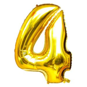 Balão Dourado N4 - 75 cm - Br festas