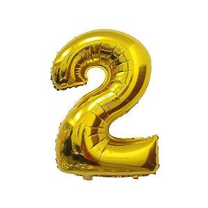 Balão Dourado N2 - 75 cm - Br festas