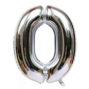 Balão Prata N0 - 75 cm - Br festas
