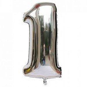 Balão Prata N1 - 75 cm - Br festas