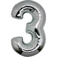 Balão Prata N3 - 75 cm - Br festas