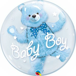 "BUBBLE BABY BOY 22"" QUALATEX"