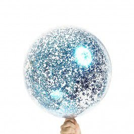 BUBBLE COM MINI CONFETE  AZUL