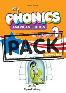 MY PHONICS 1 THE ALPHABET ACTIVITY BOOK (American Edition) WITH CROSS-PLATFORM APP.