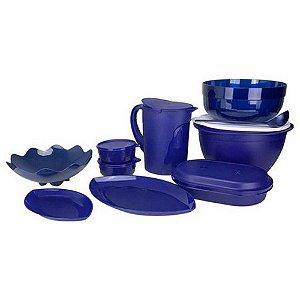Tupperware Kit Luxo e Resistência 10 Peças Azul