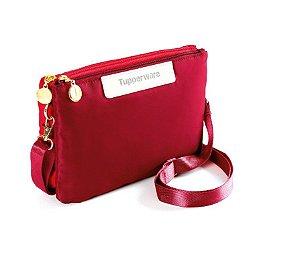 Tupperware Bolsa Transversal Vermelha