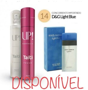PERFUME UP! 14 – TAITI - D&G LIGHT BLUE* – FEMININO 50 ML