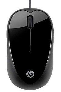 Mouse Óptico com fio HP X1000 1000 DPI, 3 botões USB