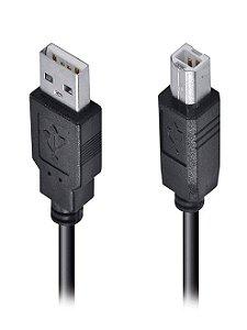 Cabo USB p/ Impressora 2.0 AM/BM 1.8m preto
